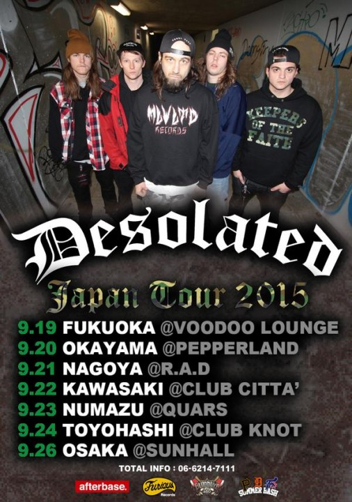 Desolated japan tour