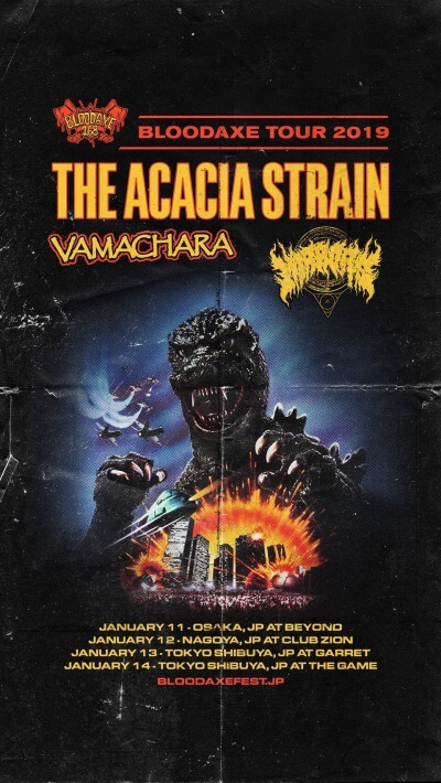 The Acacia Strain / Vamachara / Mirrors Japan tour 2019 決定
