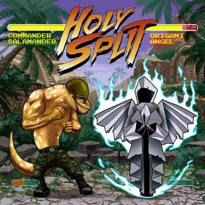 "Origami Angel / Commander Salamander release new split; ""Holy Split"""