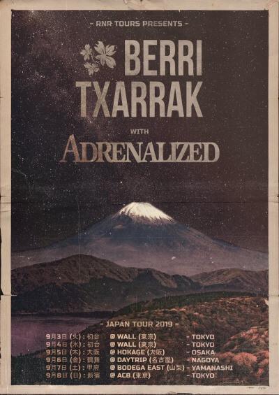 Adrenalized / Berri Txarrak Japan Tour 2019 announced