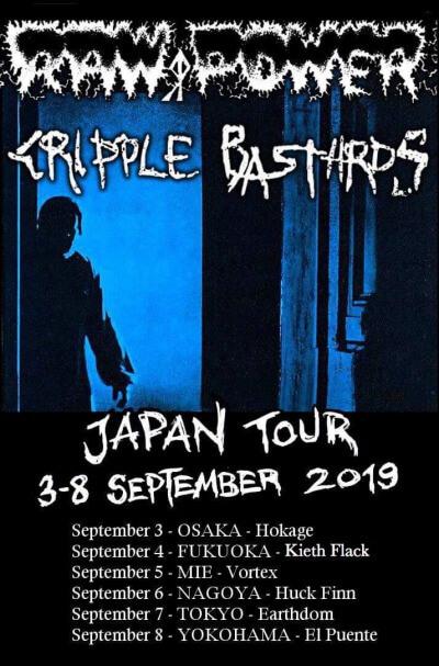 Raw Power / Cripple Bastards Japan Tour 2019 announced