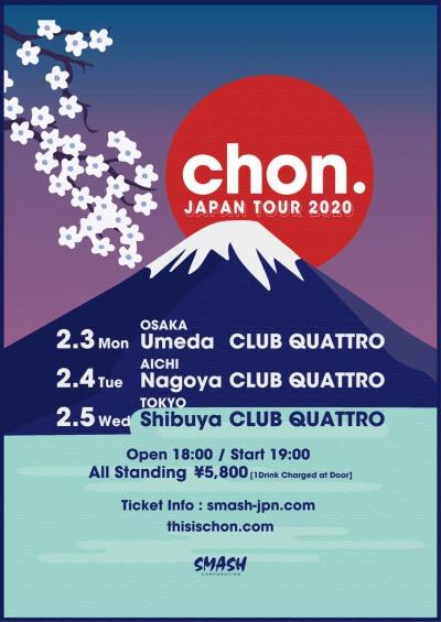CHON Japan tour 2020 announced