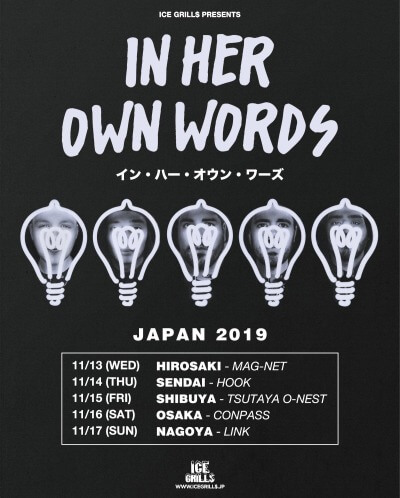 In Her Own Words Japan tour 2019 announced