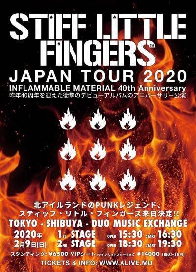 Stiff Little Fingers Japan tour 2020 announced