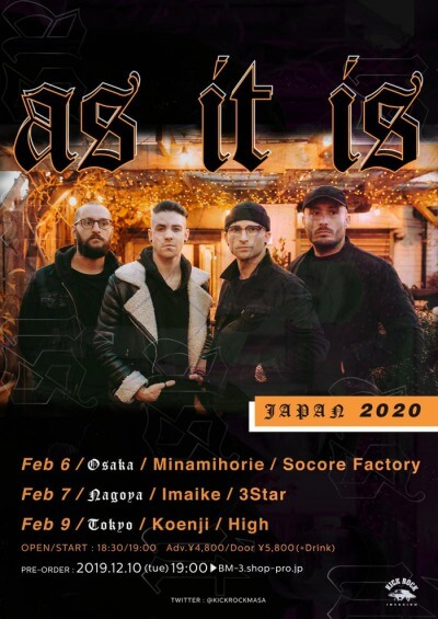 As It Is Japan tour 2020 announced