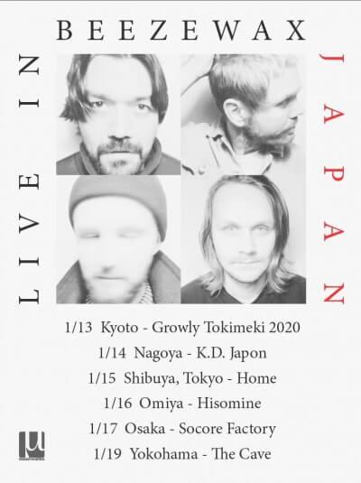 Beezewax Japan Tour 2020 announced