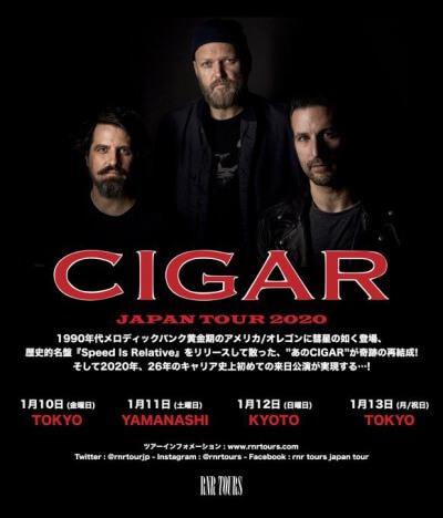Cigar Japan tour 2020 announced