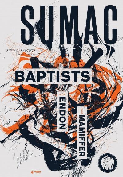 Sumac / Baptists / ENDON Japan Tour 2020 announced