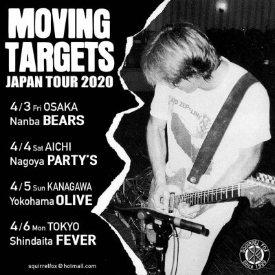 Moving Targets Japan tour 2020 announced(延期)