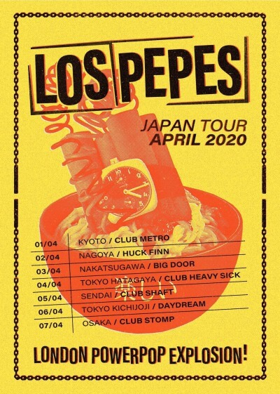 Los Pepes Japan tour 2020 announced(キャンセル)