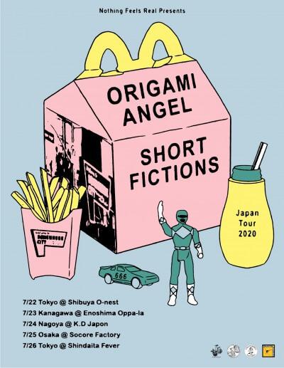 Origami Angel / Short Fictions Japan tour 2020 announced(延期)
